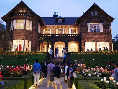 """東京西ヶ原・旧古河庭園の""""春バラ2017""""を訪れて~バラと洋館のライトアップにも・・・"""