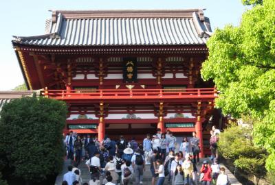 2017春、神奈川と千葉の寺社巡り(4/14):5月5日(4):鶴岡八幡宮(1):江の島から鎌倉へ、鶴岡八幡宮