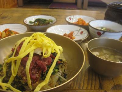 2016 蔚山2日目は新亭市場を散歩してテジクッパの朝食、そんで早い昼食に豪勢!?なチョントン(伝統)ビビンバなんてのを食べてみました!