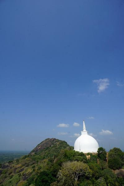 灼熱のスリランカ(4)アヌラーダプラのイスルムニヤ精舎を参拝してミヒンタレーの仏教遺跡のインビテーション・ロックの頂に立つ。