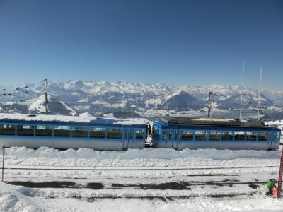 2017GW スイス04:登山鉄道で新雪のリギ山へ 360度のパノラマビュー