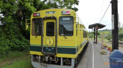 2017年のドライブ旅行は温泉巡り・・・いすみ鉄道ムーミン列車で大多喜⇔上総中野を往復する