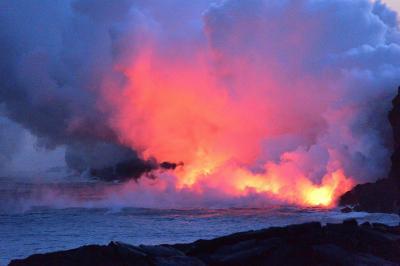 2017 ハワイ島 オーシャンエントリー(カラパナ地区溶岩)
