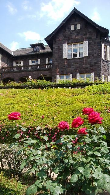 バラを楽しむ旧古河庭園
