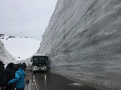 「雪の大谷ウォーク」立山黒部アルペンルートと黒部峡谷トロッコ電車2日目