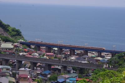 Y158記念列車を石橋鉄橋で撮影