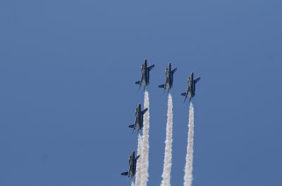 国宝・彦根城築城410年祭 ブルーインパルス 展示飛行