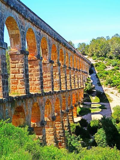Spain15 タラゴナ ラス・ファレラス水道橋 〔悪魔の橋〕! ☆2000年前の遺構堂々と
