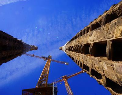 真夏のスペインその17 サグラダ・ファミリア聖堂 ファサード登頂と地下博物館