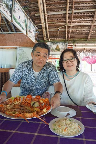 灼熱のスリランカ(20) ヘリタンス・アッフンガラ・ホテルの見学と近くの海岸にあるサンシャインレストランでシーフードを堪能する。
