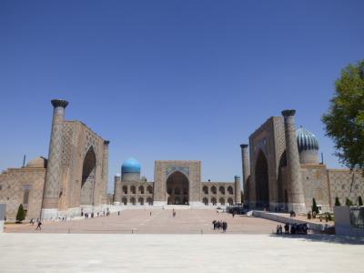 2017年GW ウズベキスタンとイスタンブールひとり旅 サマルカンド1日目 レギスタン広場