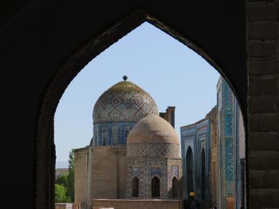 2017年GW ウズベキスタンとイスタンブールひとり旅 サマルカンド1日目 シャーヒズィンダ廟群と夜のレギスタン広場