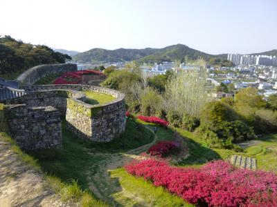 2017春 韓国 - 4 コチャン(高敞)その3 コチャンウプソン(高敞邑城)ツツジが満開