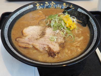 3週続けての木更津アウトレット、松戸富田製麺の昼
