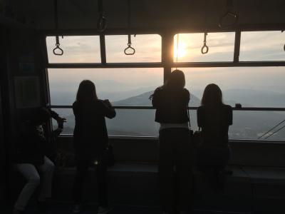 雲海と電車を楽しむ旅  1日目 善光寺七福神巡りと雲海