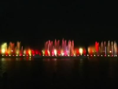 164回目訪韓は初めての全羅南道木浦を訪ねて、チムジルバン3連泊の3泊4日旅(2017/7/8土~11火)⑧/⑫。木浦踊る海の噴水ショー鑑賞