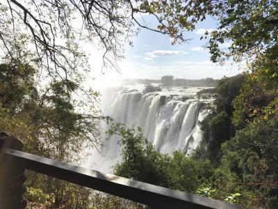 ビクトリアの滝とチョベ国立公園の旅(3) ザンビア側から滝見学