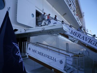 【新造船MSCメラビリア】地中海周遊クルーズ9日間 4日目ナポリ 5日目シチリア島
