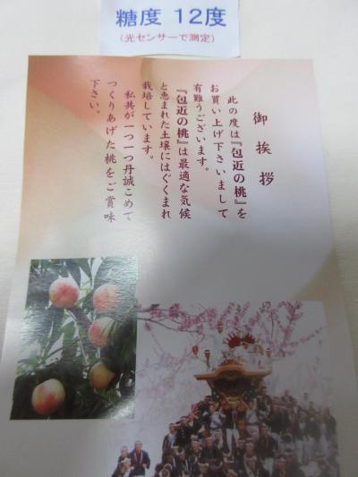 岸和田・包近の桃が手に入りました