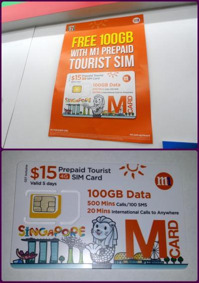 2017年5月ハノイ・シンガポール旅行記  【番外編】「ハノイとシンガポールで観光客用のプリペイドSIMカードを使ってみました」~シンガポール編