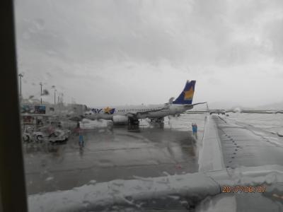 7水曜1日目2午前長崎空港は雨