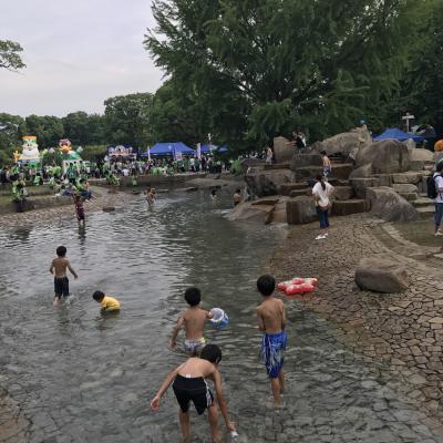 2017/7 Shonan BMW スタジアム平塚のじゃぶじゃぶ池で水遊び