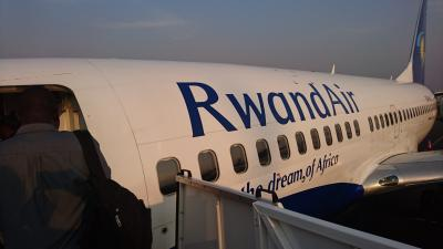 ルワンダ航空初搭乗