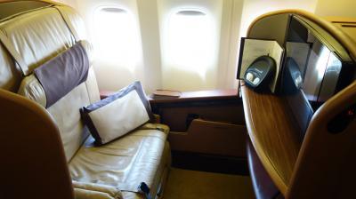 シンガポール航空ファーストクラス搭乗記! SQ637(NRT-SIN)成田-シンガポール