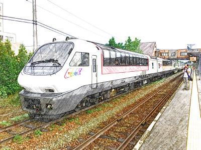 2017 7月 楽しい列車の旅「フラノラベンダーEXP2号(富良野15.20発→札幌17:22着)」