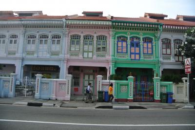 プラナカンのショップハウス in シンガポール