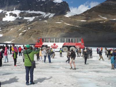 コロンビア大氷原ツアーと93号線沿景色 ドライブ