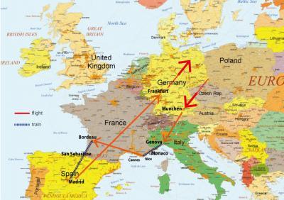 ヨーロッパ5ケ国、8日間! Five European Countries In 8 days!