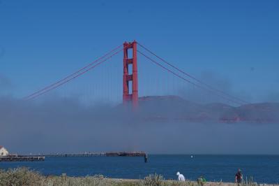 サンフランシスコ 2日目は自転車でゴールデンゲートブリッジへ