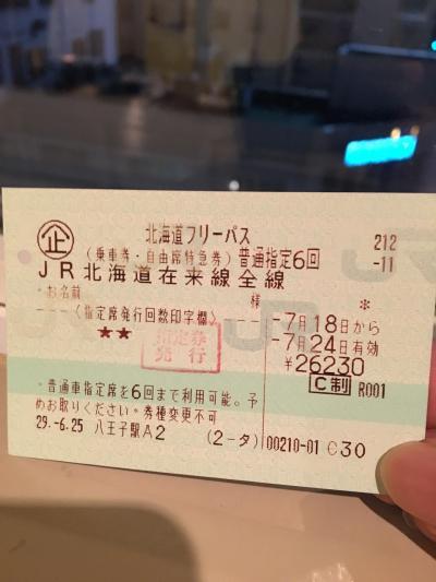 北海道一周 鉄道旅行