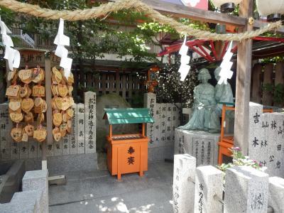 露天神社(お初天神)境内を散策