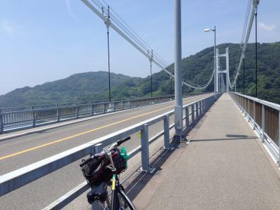 とびしま海道を猛暑の中サイクリング