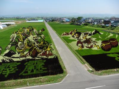 今年もすごいぞ! 田舎館村の「田んぼアート」