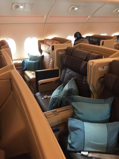 シンガポール航空 SQ26 FRA/JFK ビジネスクラス搭乗記 と フランクフルト空港 ルフトハンザ セネターラウンジ 夫婦で初のヨーロッパ旅行記 その9