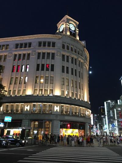 台風をかわしながら東京へ(1)初めて銀座で「ラデュレ」に入りました。