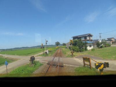 由利高原鉄道の車窓風景