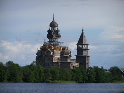 2017夏ロシア(6)キジ島の木造教会など