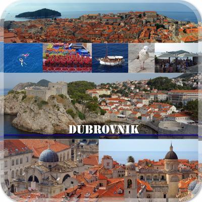 クロアチア・モンテネグロの旅1-ドブロブニク編- 城壁ウォーク、旧市街Studio Apartments Stradun宿泊、夕食はKonoba Dalmatinoでイカスミリゾット