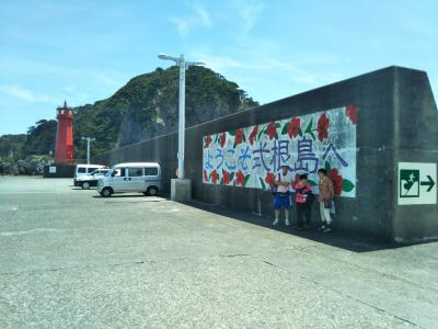 式根島でキャンプ4泊5日:1日目フェリーあぜりあ~設営