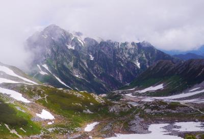 立 山  (第2日)    雄 山 (3,003m)  真 砂 岳 (2,861m)  別 山 (2,874m)