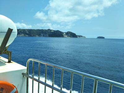 式根島でキャンプ4泊5日:3日目新島に日帰り