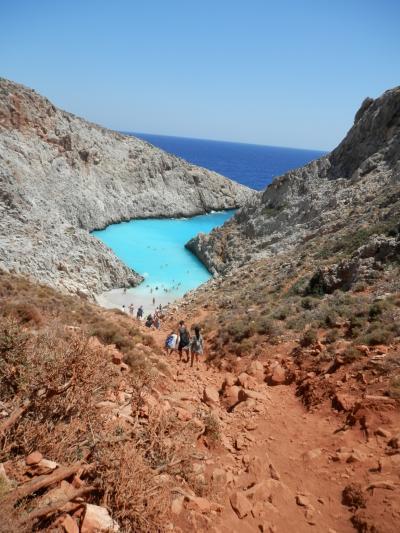 2017JUL・ギリシャ・クレタ島・ハニアでバイクに乗って秘境ビーチに行って来ました。