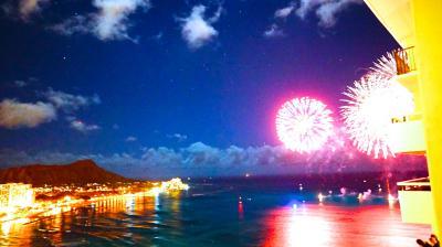 1年半ぶりのオアフ島 9日間、シェラトンワイキキ~アウラニ泊 《3日目シェラトンで?ワイキキビーチの花火?を見る》
