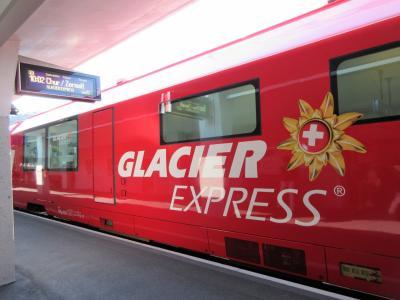 2017年7月 スイス 4日目 その1 サンモリッツからアンデルマット迄氷河特急乗車