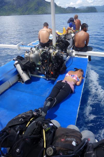 駐在のついでに 【その47】 フィリピン遠征⑪ エルニド2日目、1年2ヶ月ぶりのダイビング。ランチ&3本目@Nat Nat!