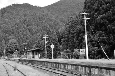 2017年お盆キャンプ(3)・秘境駅美作河井駅